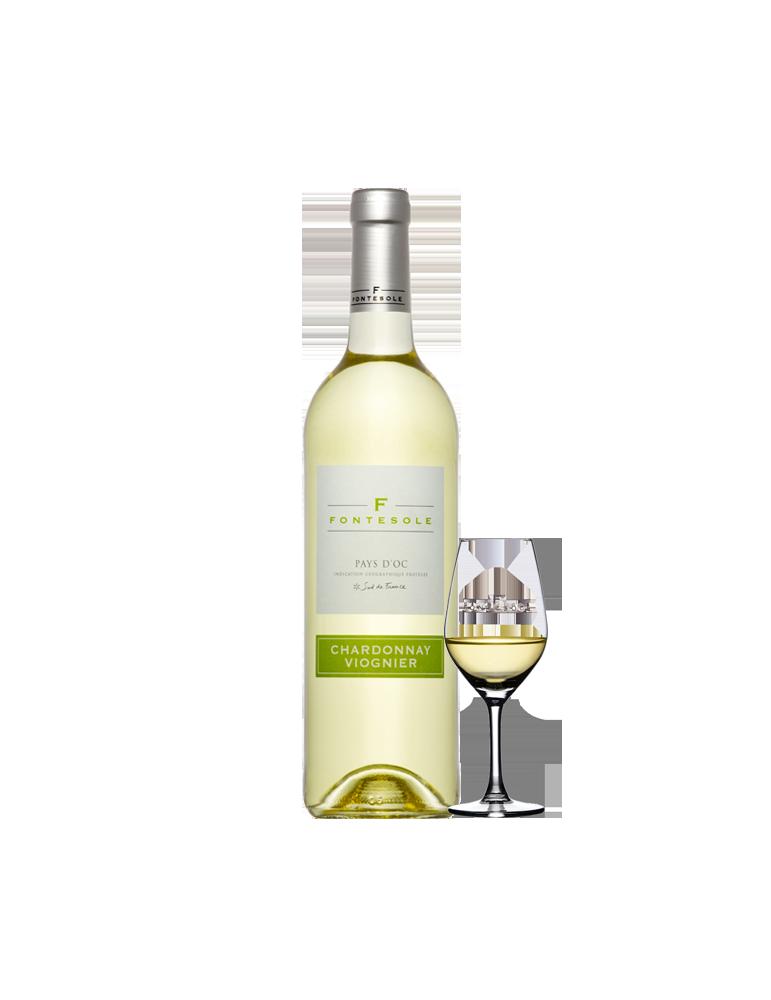 Chardonnay Viognier, PAYS D'OC IGP Blanc, Cave Coopérative La Fontésole - Les Vignerons de Fontès