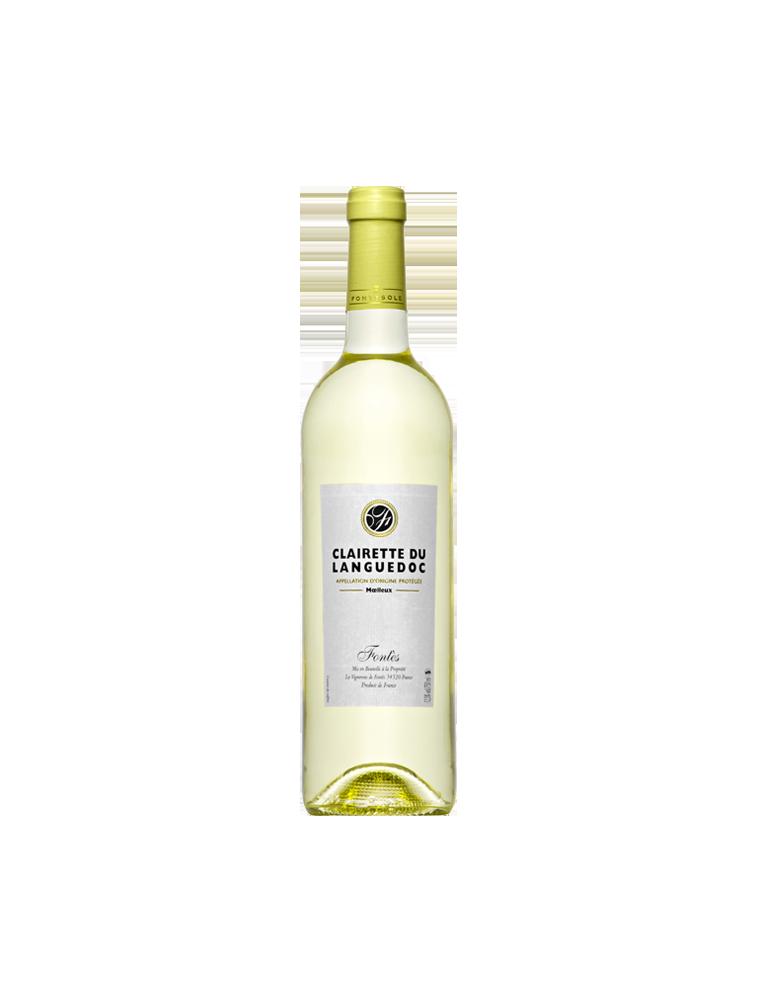 Clairette du Languedoc, Vin AOP Blanc du Languedoc, Cave Coopérative La Fontesole des Vignerons de Fontès