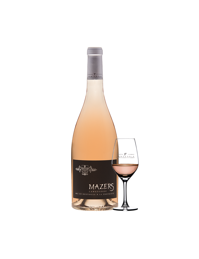 Mazers Vin AOP Rosé du Languedoc, Cave Coopérative La Fontesole des Vignerons de Fontès