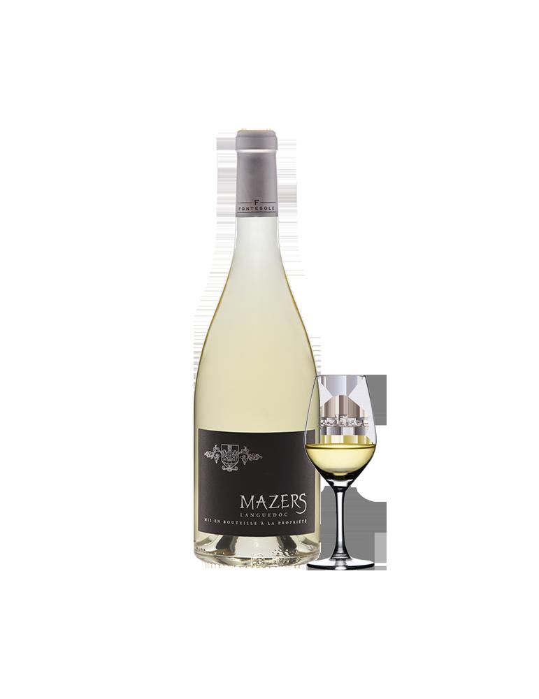 Mazers Vin AOP Blanc du Languedoc, Cave Coopérative La Fontesole des Vignerons de Fontès