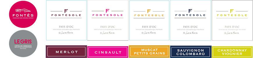 Vins de Pays d'Oc, Vins du Languedoc, rouge, rosé, blanc